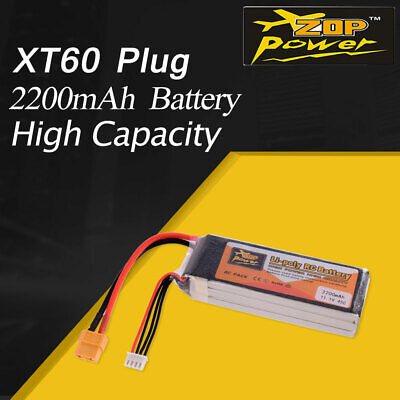 ZOP Power 11.1V 1500mAh 40C 3S Lipo Battery XT60 Plug For RC Racing Drone Car