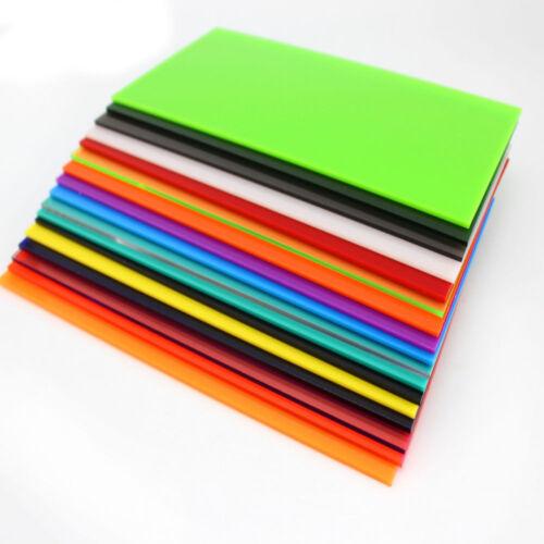 Color Acrylic Sheet Plate Plastic Plexiglass Panel 8x8//10x20//15x15//20x20//30x40cm