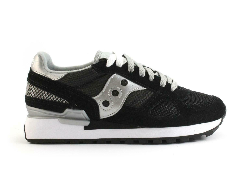 shoes SAUCONY SHADOW ORIGINALS DA women S1108 671 black silver SNEAKERS SPORTIVE