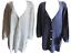 Damen Strickjacke Weiß Blau
