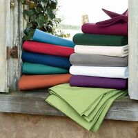 All Solid Colors 6 pc Bedding Sheet Set 1000TC 100%Egyptian Cotton Cal-King Size