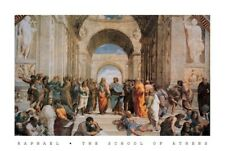 School Of Athens Raphael 1483 1520 Painting Poster Fine Art Re-Print A3 A4
