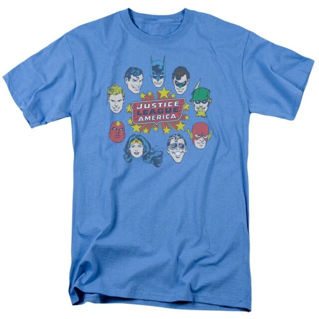 Justice League of America Big Group T-Shirt DC Comics Sizes S-3X NEW