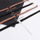 Gothic Retro Velvet Leather Round Pendant Choker Collar Necklace Chain Jewelry