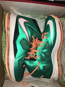 321b5270c870 Nike Lebron X 10 Miami Dolphins Teal Green Orange White 541100-302 ...