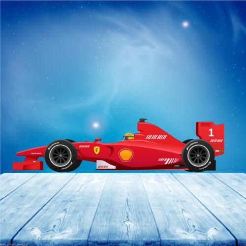 A todo color de fórmula 1 F1 Race Car Pared Arte Pegatina Calcomanía Mural de transferencia WSD86