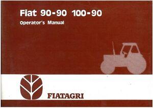 fiat tractor 90 90 100 90 operators manual ebay rh ebay co uk fiat 100-90 repair manual fiat 100-90-dt manual