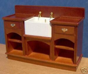 1-12-Dolls-House-furniture-Miniature-Sink-amp-Shelves-Belfast-Butler-Unit-LGW