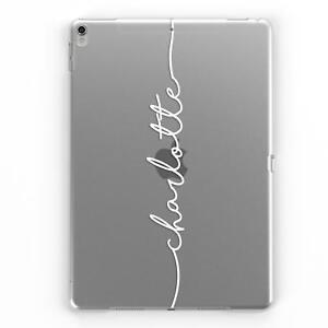 Blanco-Personalizado-Nombre-Personalizado-Transparente-Estuche-Cubierta-para-Apple-iPad