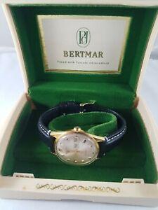 Vintage-Bertmar-mans-Watch-original-box-working