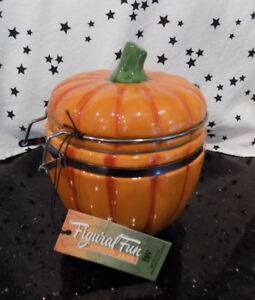 Pumpkin-Canister-Autumn-Jar-Fall-Small-Decor-NEW
