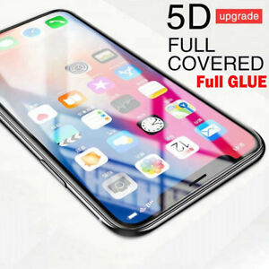 For-Apple-iPhone-XS-MAX-Gorilla-BLACK-5D-Full-Coverage-Tempered-Glass-Protector