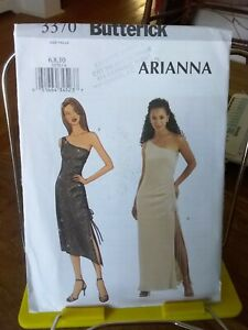 Oop-Butterick-Arianna-3370-misses-stretch-knit-dress-side-drawstring-sz-6-10-NEW