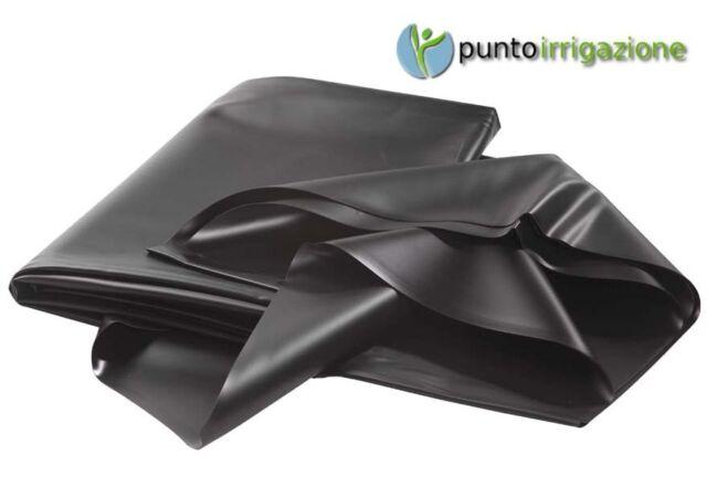 Telo PVC nero atossico laghetto 0,5 mm stabilizzato UV pretagliato 4 x 5 metri