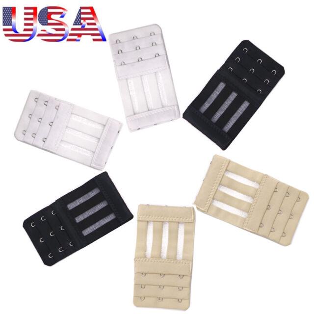 81718da6c0732 USA 6 pcs Adjustable Bra Buckle Extender Bra Extension Underwear Strap 3  Hooks