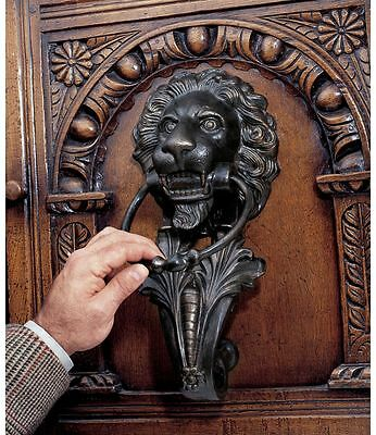 18th Century Italian Florentine Antique Replica 10 lb Lion Iron Door Knocker