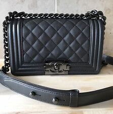 NIB CHANEL 2017 SO BLACK LE BOY BAG SMALL LIMITED EDITION RARE SIZE