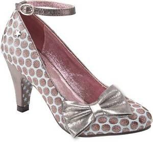 Metallic 99 Browns Rrp 4 Scarpe Couture Joe £ Blue Spot Taglia 59 Court Rochelle cwqHY5Pq