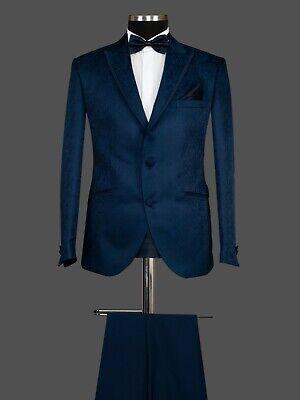 Herren Anzug Sakko Hose Smoking Hochzeit Bräutigam Dunkel Blau Slim Fit 6tlg | eBay