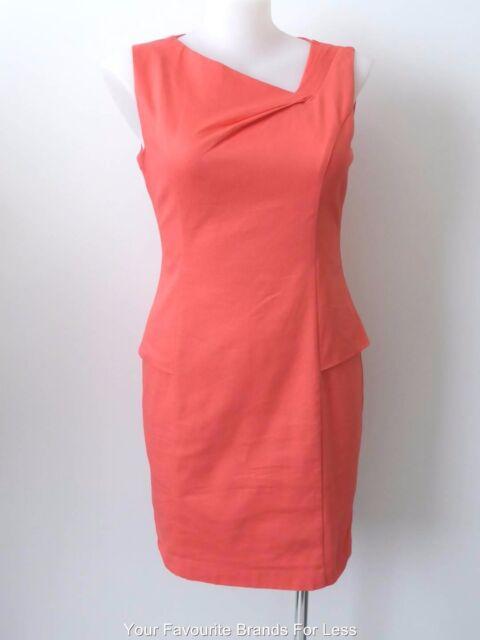 REVIEW rrp $269.99 - NEW - Sleeveless Sasha Sheath Dress Melon Size 16 US 12