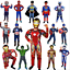 Kinder-karneval-Cosplay-Kostuem-Captain-America-Spiderman-Batman-maske-Kit-Suit Indexbild 1