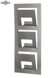 Details About Ikea Spontan Wall Mounted Newspaper Magazine Rack Silver Colour