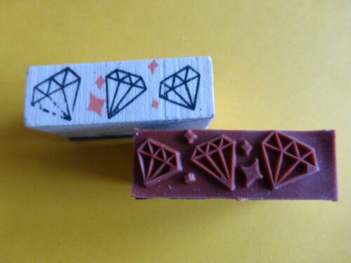 Motivstempel Stempel Diamanten ca:43x15mm Basteln Kartengestaltung