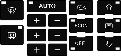 Set of stickers to repair the buttons on the AC/ Clima unit  for Audi A6 C5