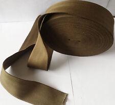 "50mm 2"" ARMY GREEN Cotton Herringbone Tape webbing sewing Bunting strap x 5 Yard"