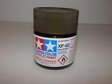 Tamiya Color Acrylic Paint Olive Drab #XF-62 (23 ml) NEW