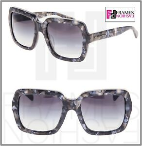 4b575834f6 Dolce   Gabbana 4273 Square Oversized Grey Marble Blue Sunglasses ...