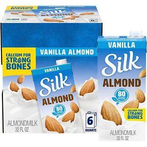 Silk-Pure-Almond-Vanilla-32-Ounce-Pack-of-6-Vanilla-Flavored-Non-Dairy