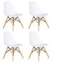 Pack 4 sillas de comedor Blanca silla diseño nórdico NUEVO Patas Haya respald