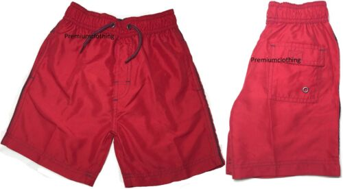 Boys Elasticated Swim Shorts Knee Length Cargo Mesh Combat Multi Pocket Lined