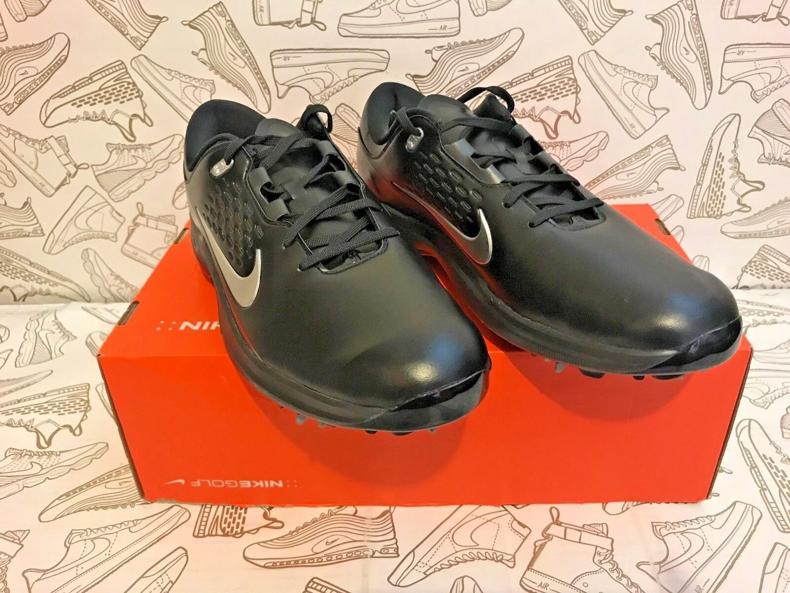 b70a84bd65243 Nike Air Zoom Tw71 Tiger Woods TW Golf Shoes Black Silver Aa1990-002 ...