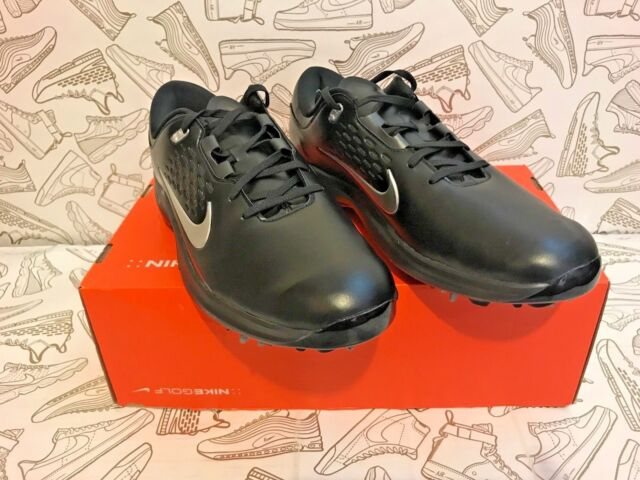 huge discount 0c117 5c491 Nike Air Zoom Tw71 Tiger Woods TW Golf Shoes Black Silver Aa1990-002 Size 12