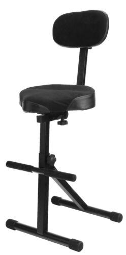 Pro Stehhilfe Stehstuhl  Bügelstuhl Stehsitz Keyboardhocker Sattelhocker Hocker