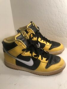 on sale d58c0 dfe89 Details about 2006 NIKE DUNK HIGH MAIZE YELLOW WHITE BLACK WU-TANG  GOLDENROD 309432-711 S10.5