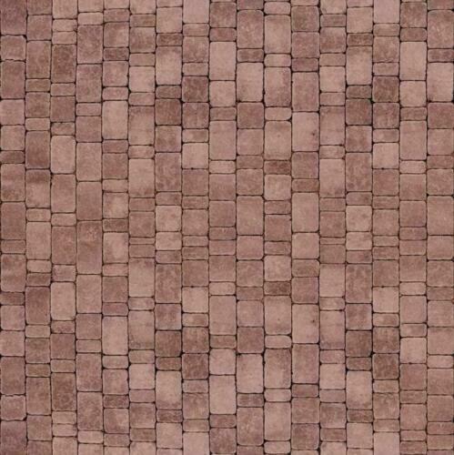 16 SHEETS EMBOSSED BUMPY COBBLESTONE WALK PATH 21x29cm 1//24 paper   g4h5