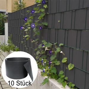 Sichtschutzstreifen Sichtschutzmatte 10X Stabmattenzaun Sichtschutzfolie