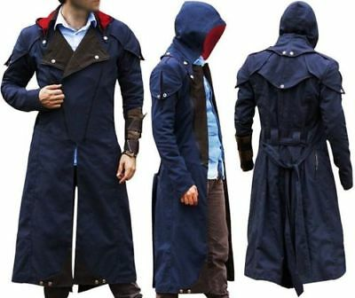 Assassin S Creed Unity Arno Dorian Denim Cloak Cosplay Costume