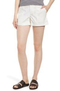 Nwot 18 145 Bianco patch taschino Stretch da Pantaloncini donna Signature Sz Nordstrom qpvgzT