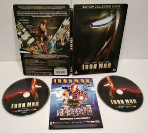 IRON-MAN-DVD-Steelbook-PAL-Zone-2-Complet-Tres-bon-etat