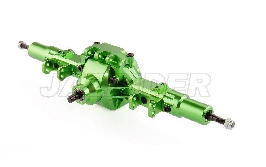 Jazrider 22115X Eje Trasero de Aluminio montado (verde) conjunto para Axial Racing SCX10
