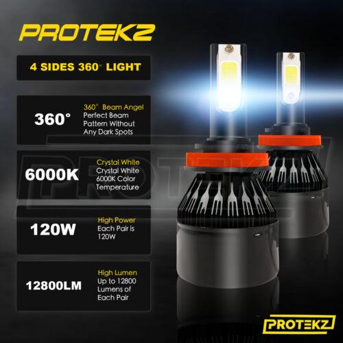 LED Headlight Kit H8 6000K White Bulbs Fog Lights CREE for Chevy Cruze 2011-2018