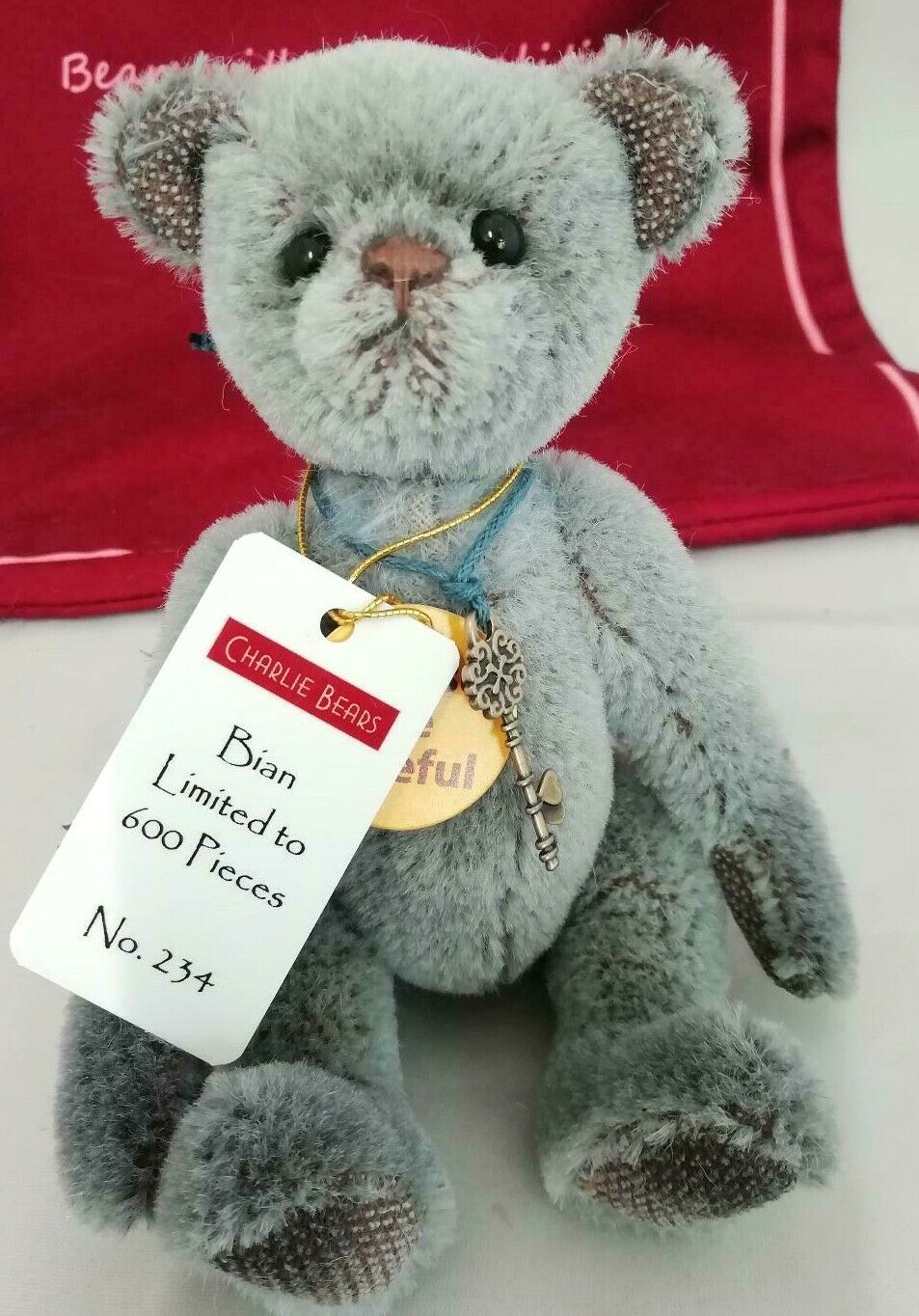 2019 Charlie Bears Minimo Mohair BIAN It's All In The Name Series LE 234 600