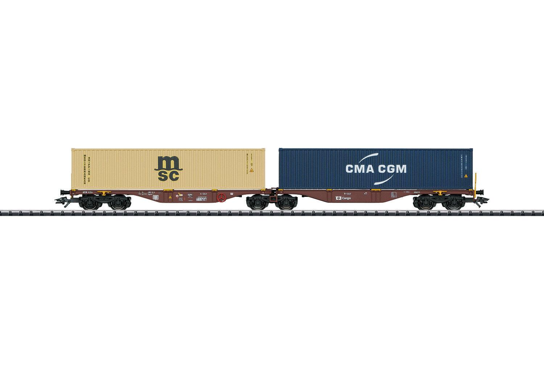Trix 24800 doble-contenedor armazón Cochero tipo aprobado sggrss 80 Cochegado  neu en OVP