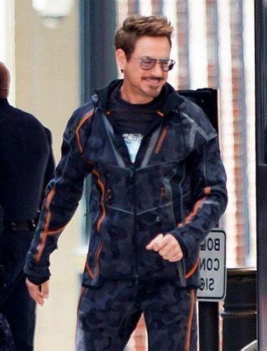 Avengers Infinity War Iron Man Tony Stark Camouflage Men Hoodie Jacket-All Sizes