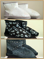Victoria's Secret Fur Lined Muk Luk Ankle Boots Choose Style In Box