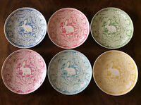 Pottery Barn Graphic Easter Bunny Salad Plates 6 Colors Available